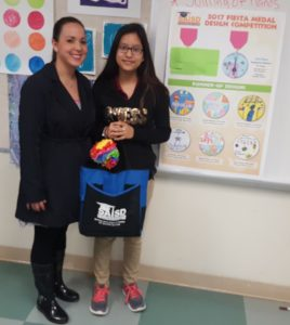Congratulations Stephanie Pedroza, 7th grade student at Wheatley Community School, SAISD, our 3rd place winner in SAISDFoundation's 2017 Fiesta medal design competition. Miss Pedroza won gift of art supplies and her art teacher, Ms. Arce (not pictured) received an art grant. Pictured: Ms. Rodriguez, Wheatley's Instructional Dean and Stephanie Pedroza. ¡Viva Arts Education! ¡Viva Fiesta San Antonio!