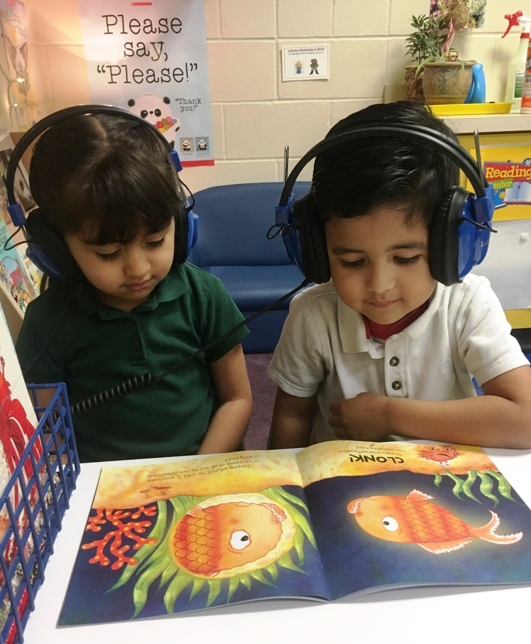 New listening centers at Arnold Elementary