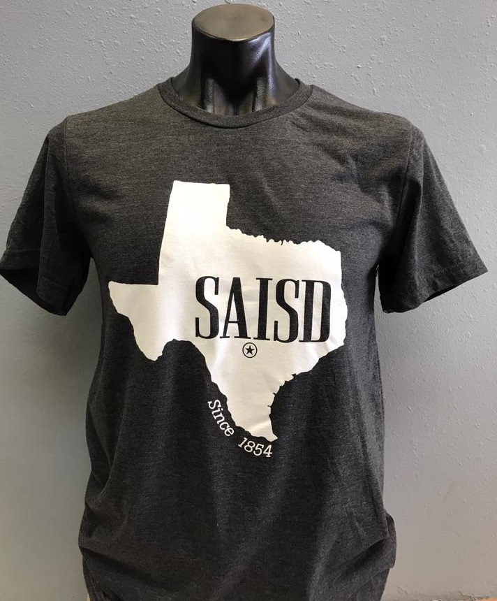 SAISD employees get a Texas SAISD t-shirt when they donate $50 or more!